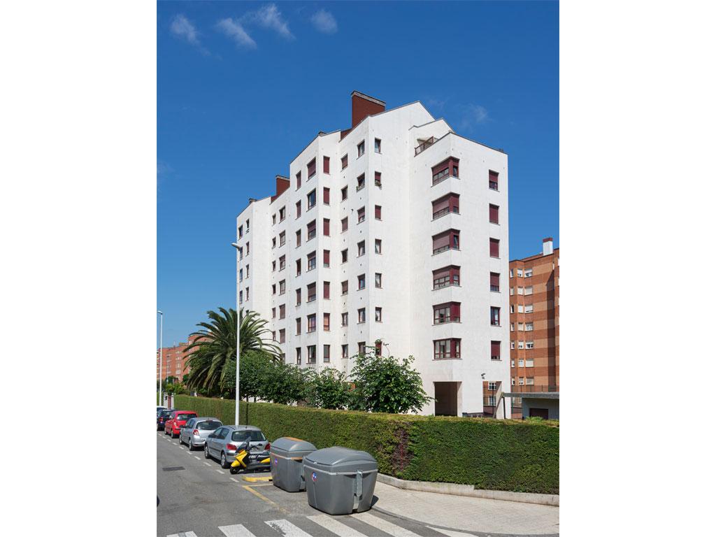 Fachada Residencial La Fueya, Gijón